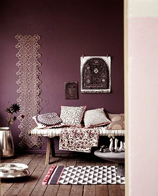 plum otherwise known as red violet could be an accent wall or